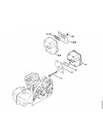 Схема бензопилы MS 250 Шумоглушитель