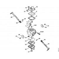 Деталировка бензопилы MS 180 Карбюратор C1Q-S57E, C1Q-S57A, C1Q-S264A