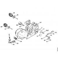 Схема бензопилы MS 250 Картер двигателя